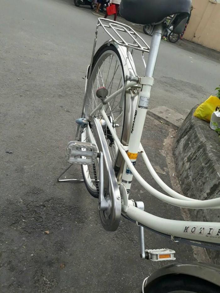 Xe đạp mini Nhật màu trắng