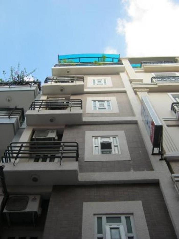 Bán khách sạn MT đường Lê Văn Sỹ, Q.3, DT: 4x20m, 5 lầu mới.