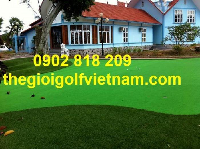 Thảm Cỏ golf nhân tạo trải sàn, cỏ sân chơi trẻ em