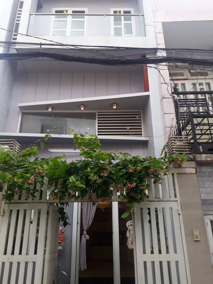 Nhà đối diện THCS Tân Sơn, Bùi Quang Là p12 quận Gò Vấp, tiện kinh doanh cho con đi học