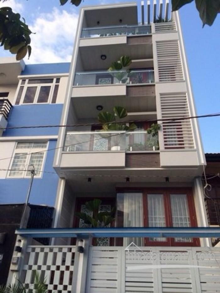 Cho thuê nhà ngay chợ Thủ Đức MT Tô Ngọc Vân, Q.TĐ, (DT: 4x25m, trệt, 3 lầu).