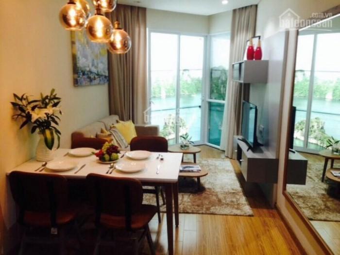 Hình ảnh phòng khách căn hộ mẫu của căn hộ 2 phòng ngủ