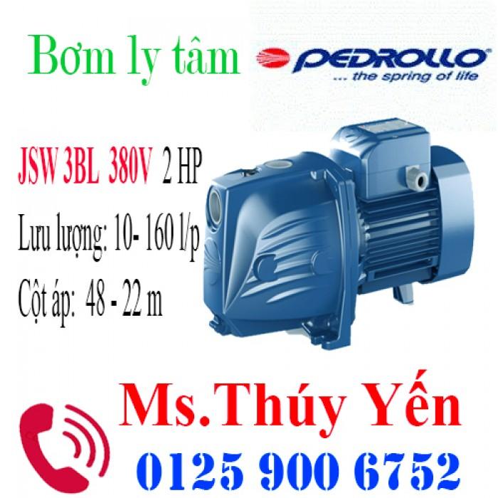 Máy bơm nước mini 380V gia đình hút sâu đẩy cao Pedrollo JSW 3BL 2HP - chất lượng, giá tốt