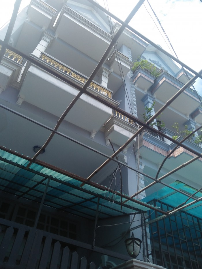 Bán nhà SHR dt 4,2m x10,5 m sát gò vấp 3,5 tấm