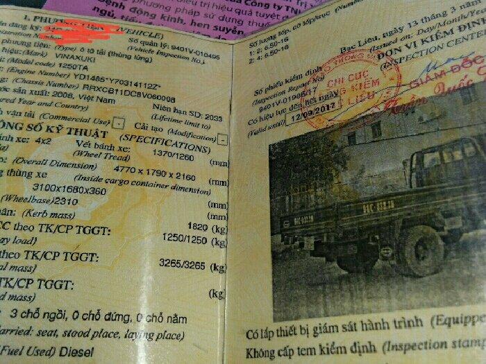 Xe tải 1.25 tấn chay 6 ngàn km 4