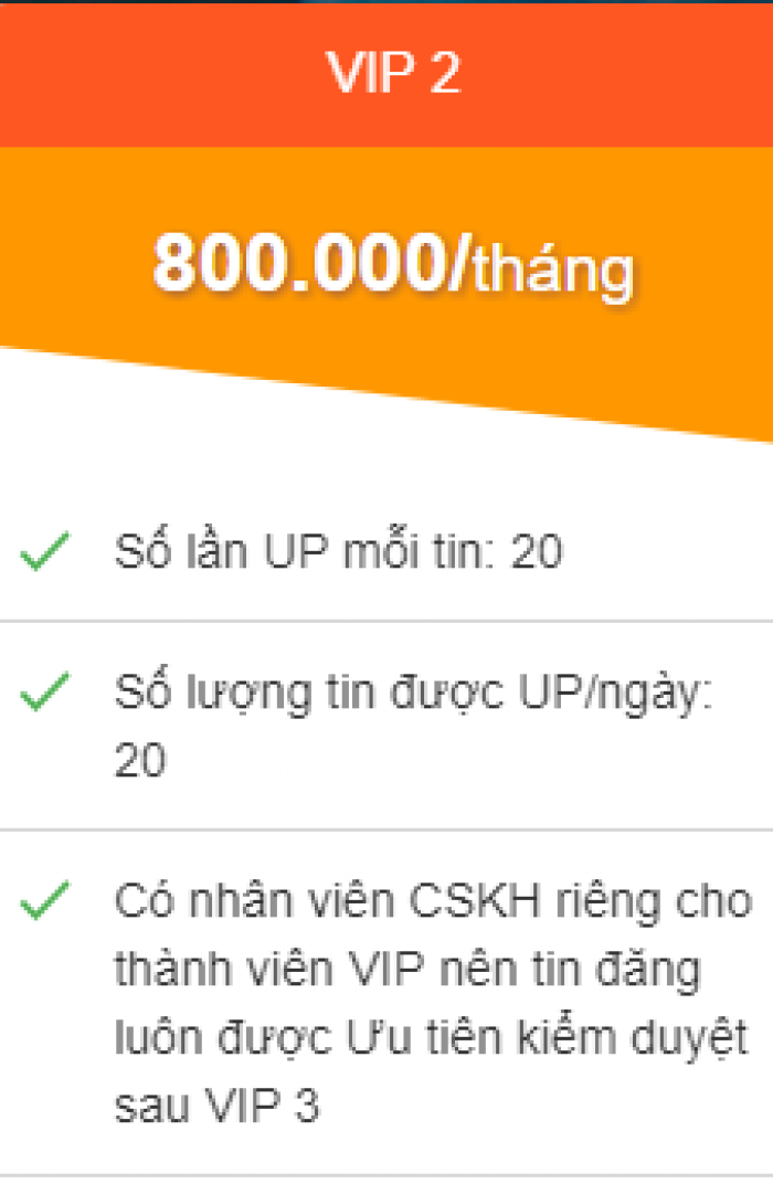 Phí up tin trên trang web muabanhanh.com là bao nhiêu ?