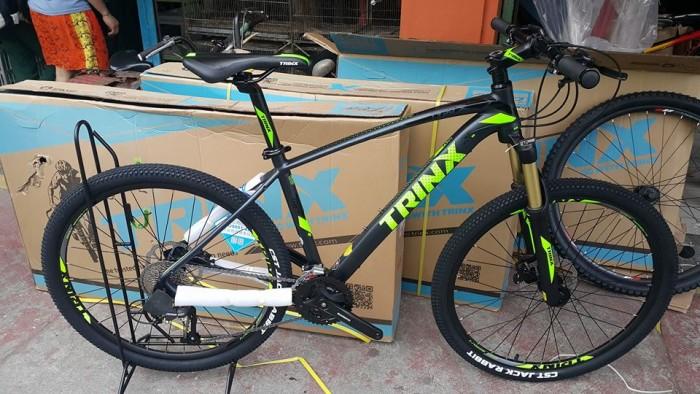 Xe đạp Trinx X1 2017, mới 100%, giao hàng miễn phí, màu Đen xanh lá