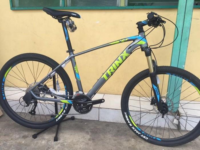 Xe đạp Trinx X1 2017, mới 100%, giao hàng miễn phí, màu Ghi xanh