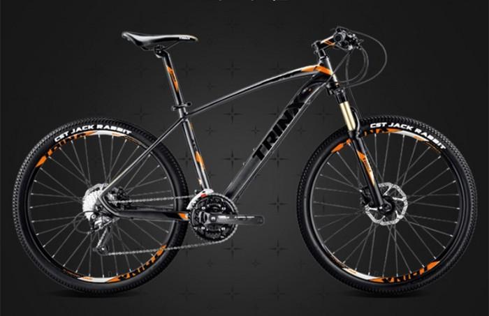 Xe đạp Trinx X1 2017, mới 100%, giao hàng miễn phí, màu Đen cam