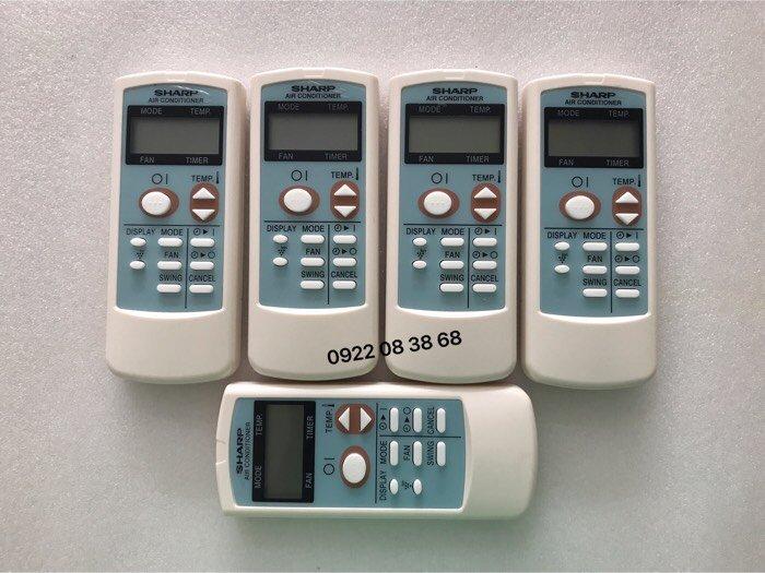 Remote Máy Lạnh Sharp, Mới 100%, Tặng kèm 2 Pin 3A, Gía 110k