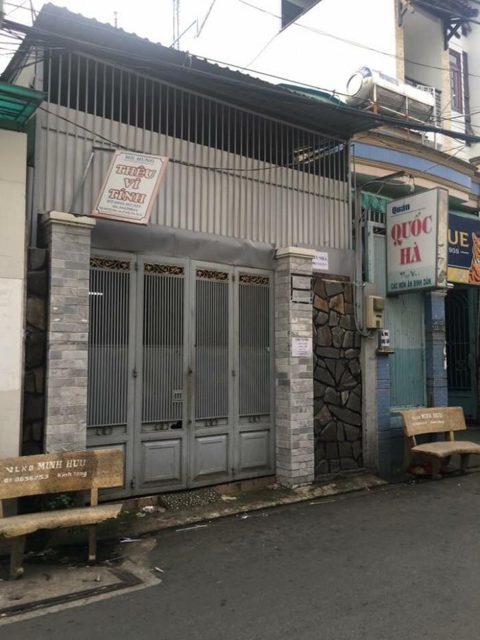 Cần bán nhà MT Đất Thánh , P.6, Tân Bình, 176m2, trệt