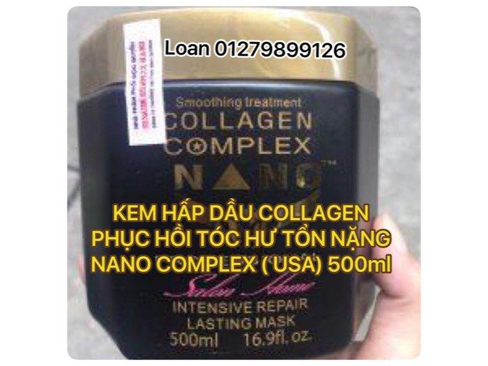 Kem Hấp Dầu Collagen Nano Complex Phục Hồi Tóc Hư Tổn Nặng Usa 500ml0