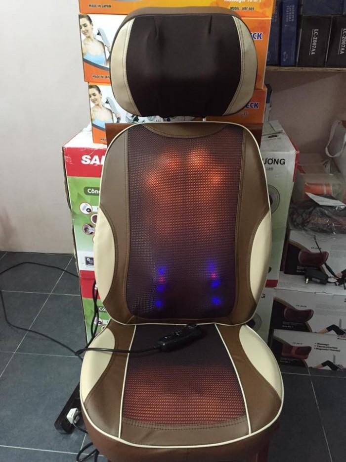 Máy massage 11 đầu hồng ngoại Nhật Bản,đệm massage F08
