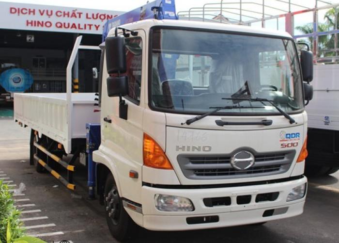 Xe tải Hino 4.7 tấn FC9JLSW gắn cẩu Tadano 3 tấn ZE300 0