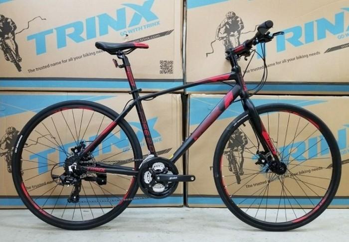 Xe đạp Trinx Free 2.0 2017, mới 100%, miễn phí giao hàng, màu Đen đỏ
