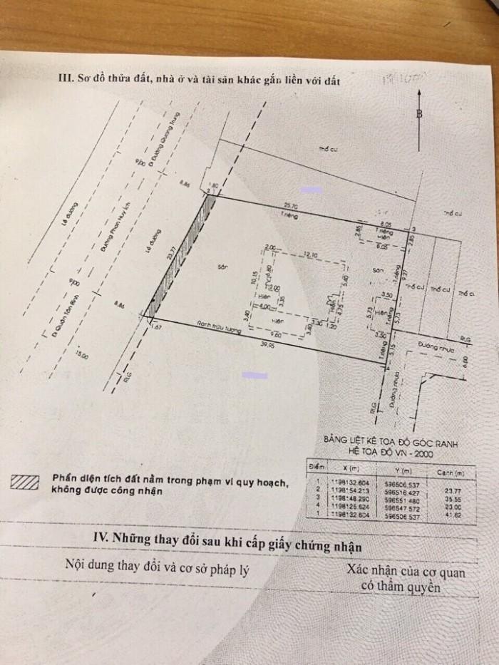 Bán Nhà 2 Mặt Tiền Đường Phan Huy Ích, Phường 12, Gò Vấp, 23 x 40m, Đất + cấp 4