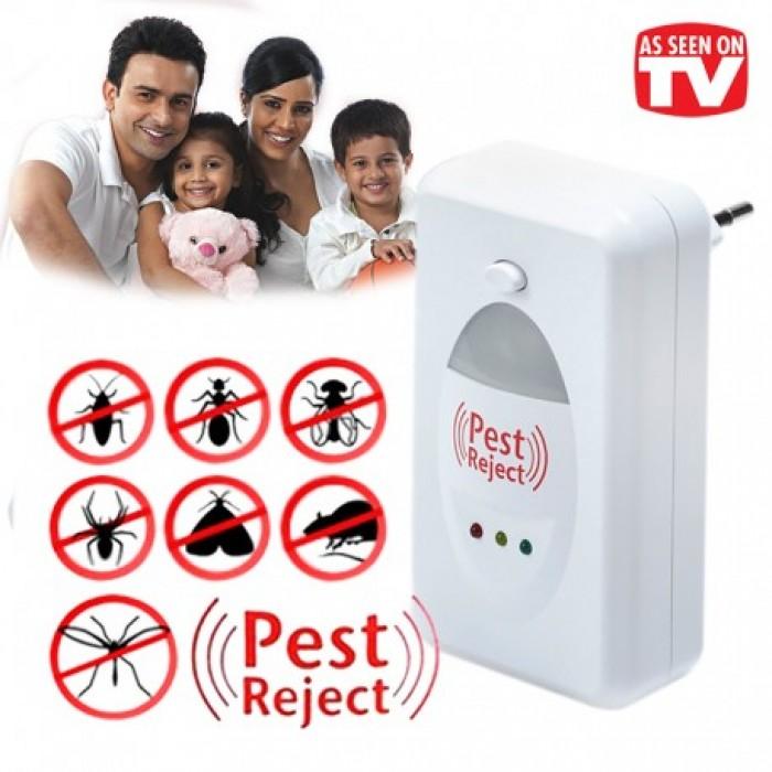 Máy đuổi côn trùng Pest Reject bằng sóng âm hiệu quả,máy đuổi chuột,ruồi,muỗi cho gia đình,nhà kho0