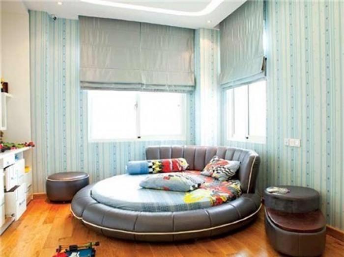 giường ngủ hình tròn phong cách hiện đại2