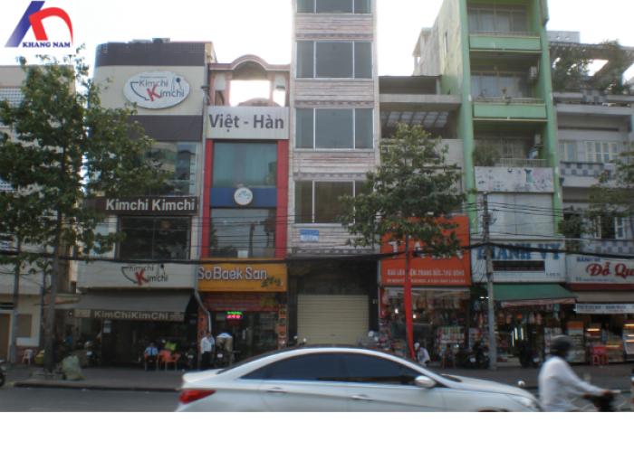 Cho thuê nhà MT Nguyễn Thái Học gần Trần Hưng Đao, Q.1, (DT : 4x16m, trệt, 3 lầu).