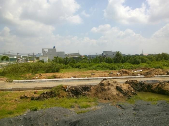 Đất nên nhà bè, nằm ngay trục đường Nguyễn Văn Tạo, gần kcn Long Hậu.