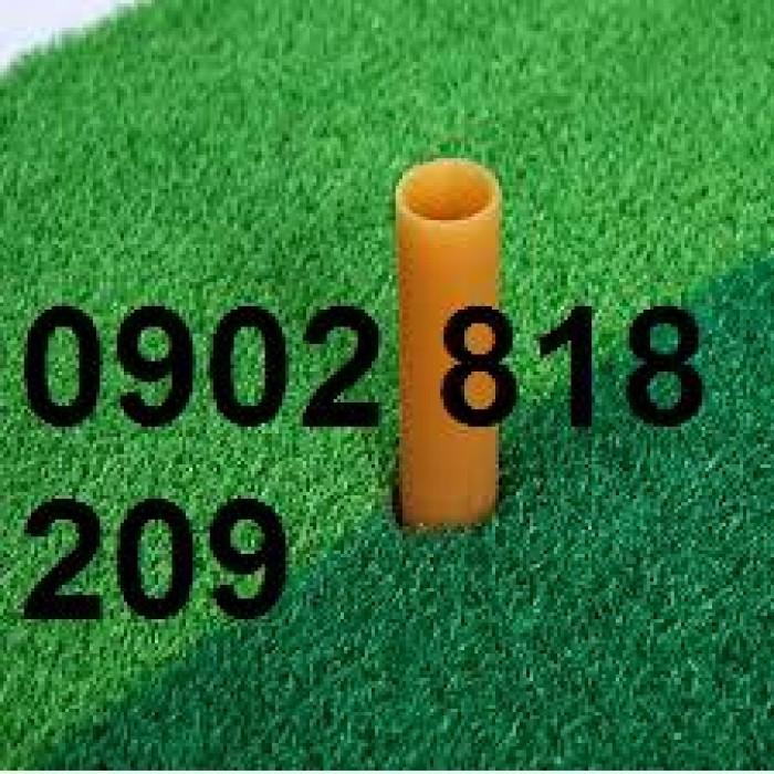 Combo 10 tee golf cao su dẻo chịu lực màu vàng
