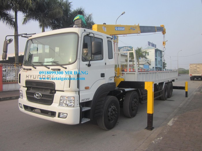 Bán Xe Hyundai Hd320 Gắn Cẩu 7 Tấn Soosan Scs746L 1