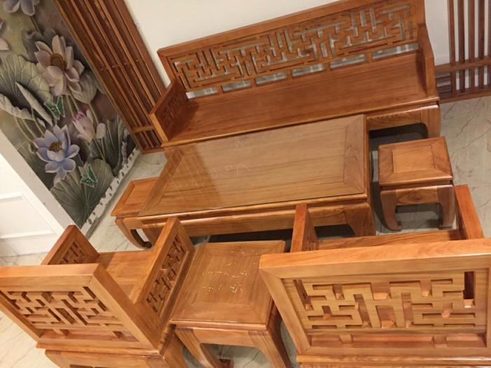 Bộ bàn ghế gỗ gõ đỏ kiểu hiện đại-BBG479