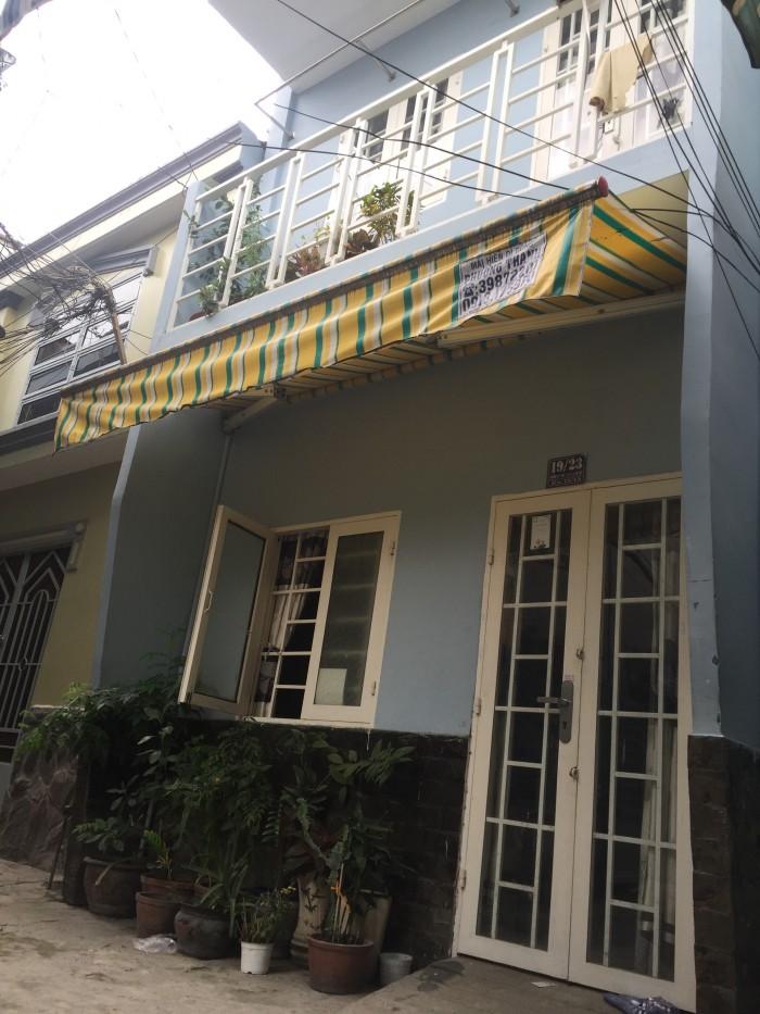 Nhà (3,6x5)m trệt lầu lửng hẻm Phan  Văn Trị