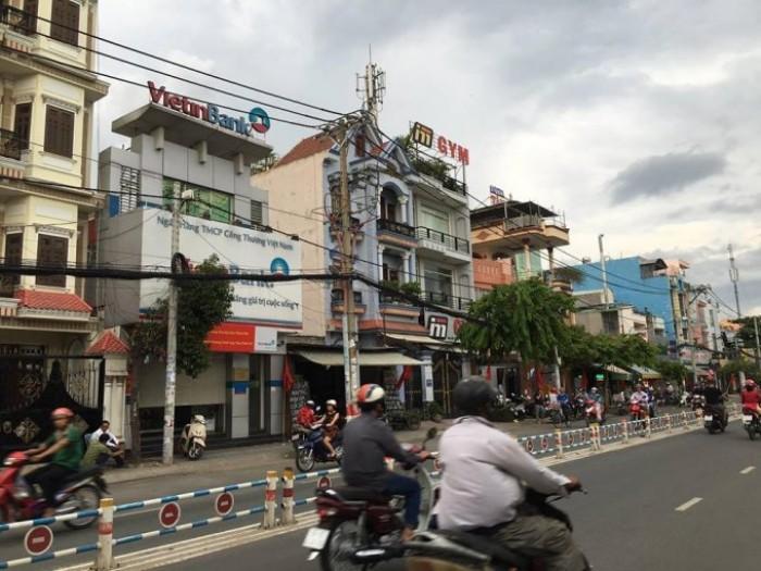 Bán nhà mặt tiền đường Nguyễn Văn Lượng, phường 17, quận Gò Vấp, 7,7 x 50m, 1 Trệt + 3 Lầu, giá 44 tỷ