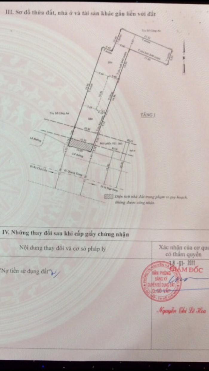 Bán nhà và đất mặt tiền đường Quang Trung, phường 10, quận Gò Vấp, 10,5 x 55m, giá 42 tỷ