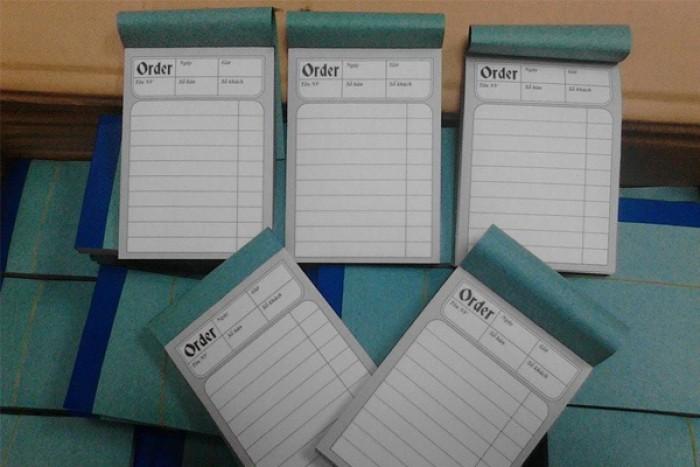 In phiếu order giá rẻ tại xưởng in, miễn phí thiểt kế, giao hàng đúng hẹn, đảm bảo chất lượng in