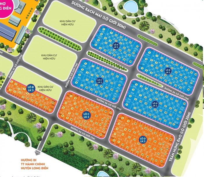 Cần bán đất nền khu phố chợ Long Điền, giá đầu tư