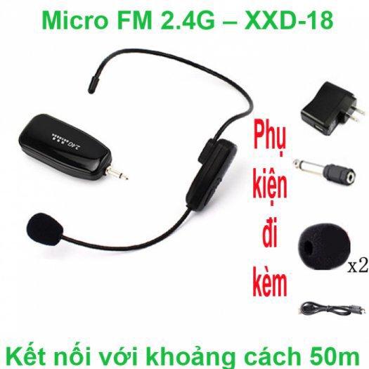 Micro không dây FM XXD-18 - FM XXD-18 (BH-6 Tháng)0