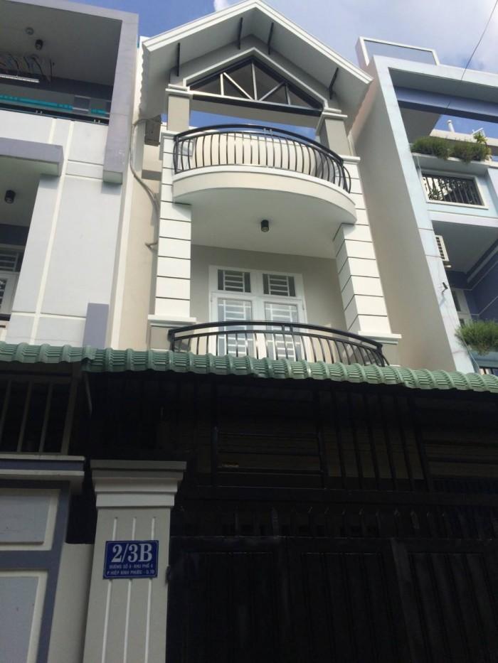 Bán gấp căn nhà 60m2/ 3 lầu mới 100% ngay QL13 giao đường hiệp bình, HBC