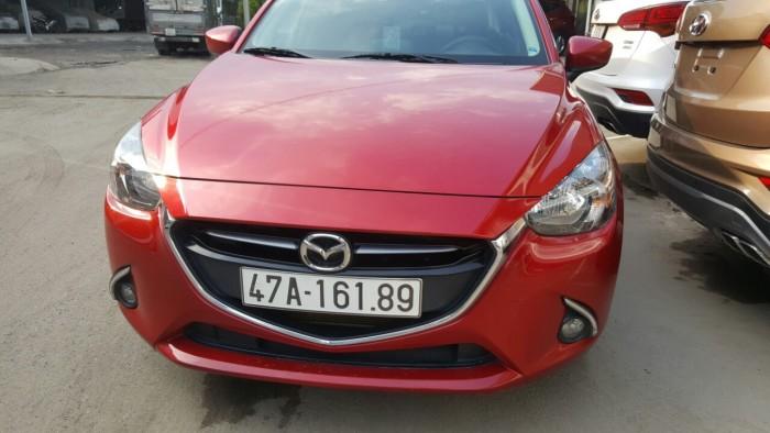 Bán Mazda 2 sedan 1.5AT sản xuất 2016 số tự động màu đỏ chery