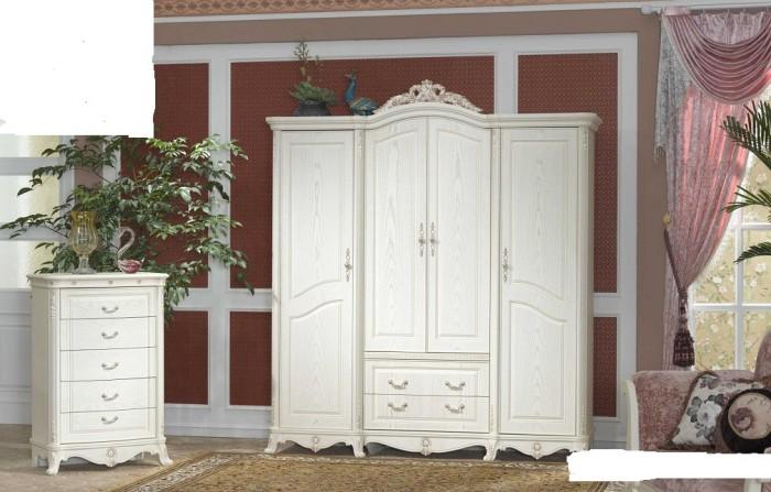 tủ quần áo màu trắng cổ điển châu âu5