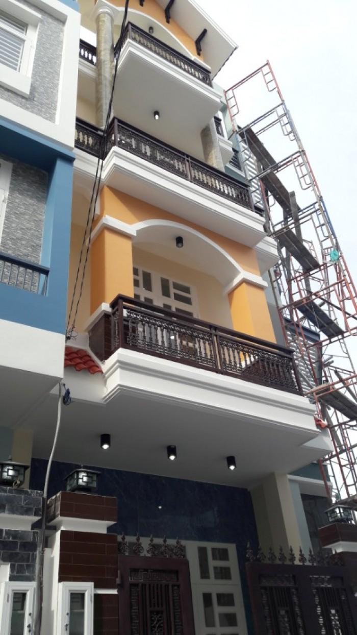 Bán nhà riêng 3 lầu mới xây 56m2 xong đường số 8, HBP, ngay cà phê phong