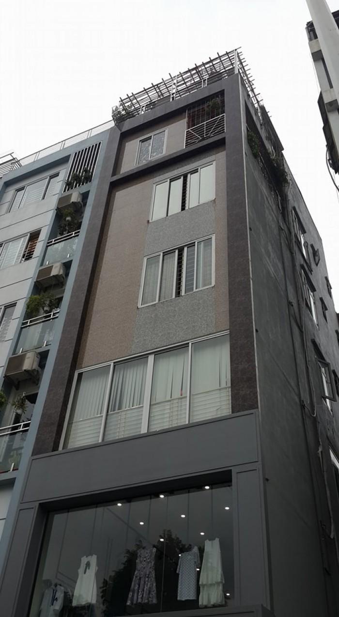 Bán nhà đường Nguyễn Văn Huyên, 60m2, 8 tầng, MT 4m