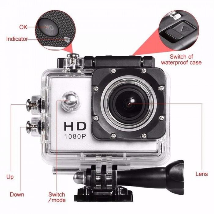 Camera Hành Trình Hd1080 Sport Cam A19-Lcd 2-Wifi Romote0