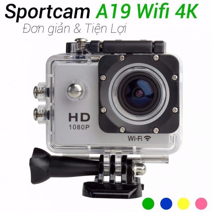 Camera Hành Trình Hd1080 Sport Cam A19-Lcd 2-Wifi Romote4