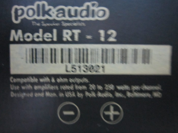 Loa Polkaudio Rt 12 (Made In Usa)0