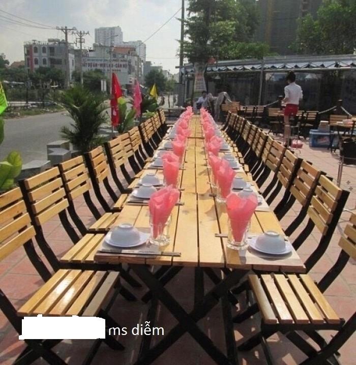 Bàn ghế gỗ cafe nhà hàng giá rẻ0