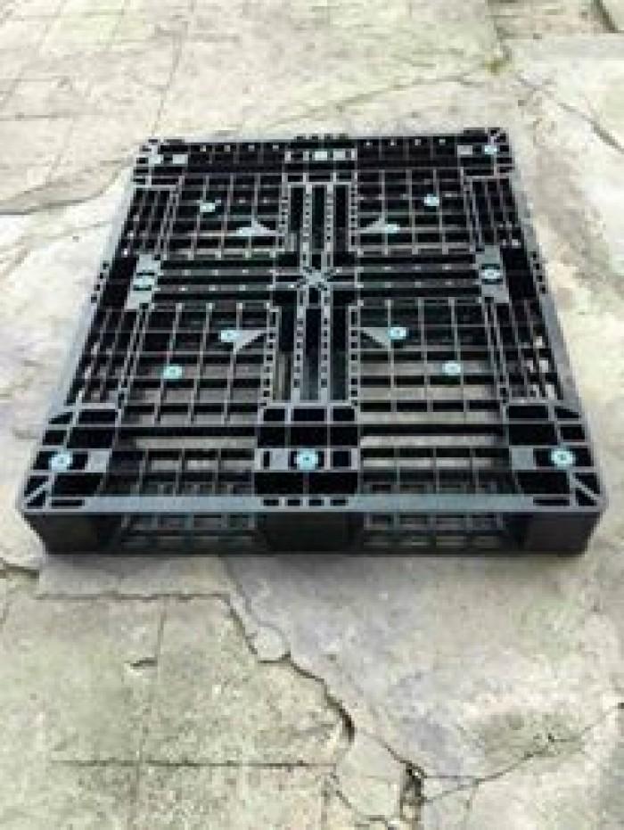 Pallet nhựa cũ 1200x1000x150 mm1