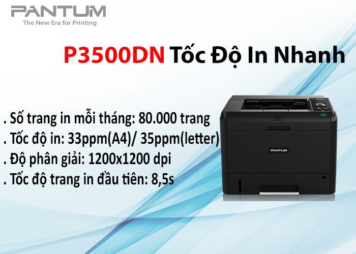 Máy in laser đơn sắc Pantum P3500DN0
