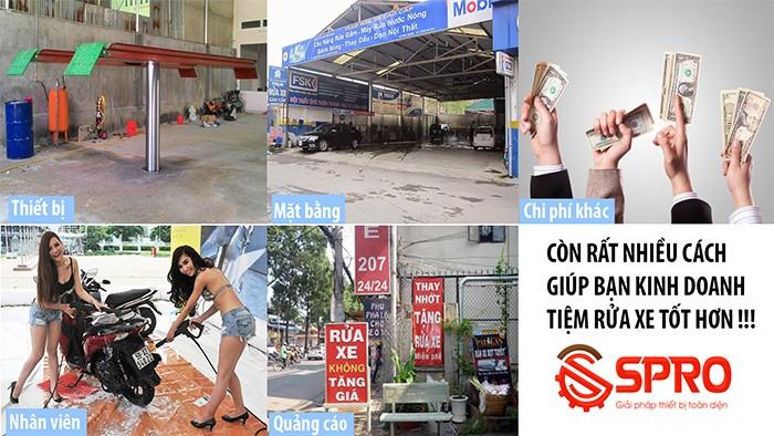 SPRO - Tư vấn mở tiệm rửa xe chuyên nghiệp thu nhập khủng