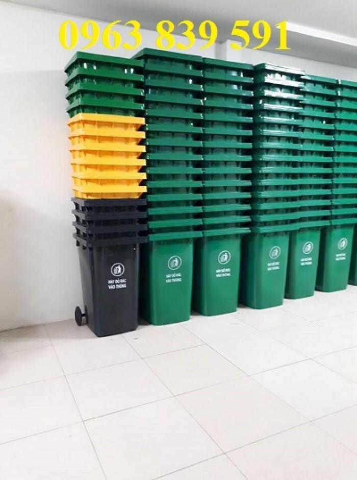 Thùng rác công nghiệp-thùng rác 120L-240L giá rẻ0