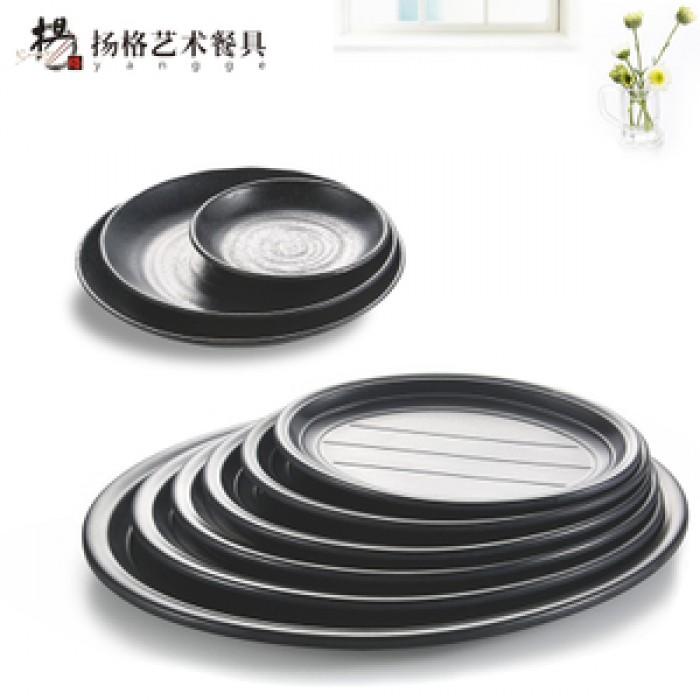 đĩa tròn melamin
