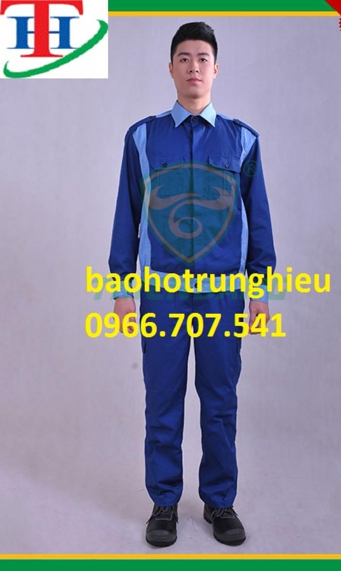 Quần áo bảo hộ màu xanh dương