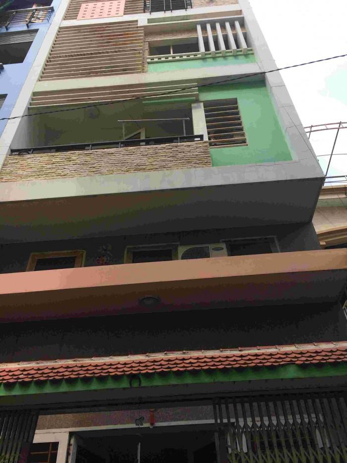 Hẻm 6m đường Đề Thám, P. Cầu Ông Lãnh, Q. 1, DT: 5x17m, trệt, 4 tầng đúc đẹp