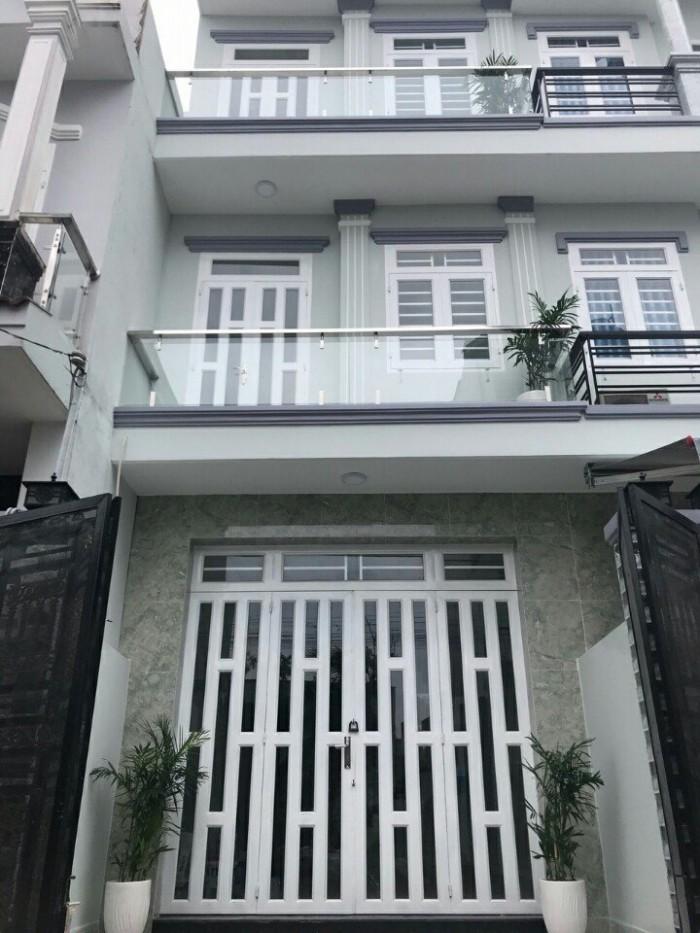 Bán nhà mới đẹp mặt tiền hẻm 7m Huỳnh Tấn Phát,Trung tâm thị trấn Nhà Bè, DT 4x14m, 3 lầu